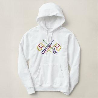 De grote Wacht van de Kleur Geborduurde Sweater Hoodie