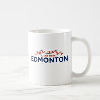 De grote Witte Mok van Edmonton van het Hockey