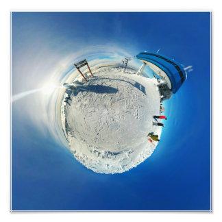 De grote Witte Uiterst kleine Planeet van het Foto Kunst