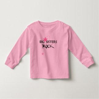 De grote Zusters schommelen het Lange Sleeve van Kinder Shirts