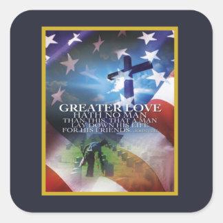 De grotere Stickers van de Dag van de Veteranen