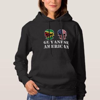De Guinese Amerikaanse Schedels van de Vlag Hoodie