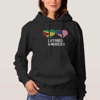 De Guinese Amerikaanse Vlaggen van het Hart Hoodie