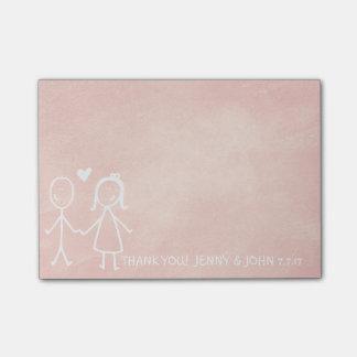 De Gunst van het huwelijk dankt u de Pastelkleur Post-it® Notes