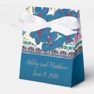 De Gunst van het huwelijk in Blauwe Orchideeën Bedankdoosjes