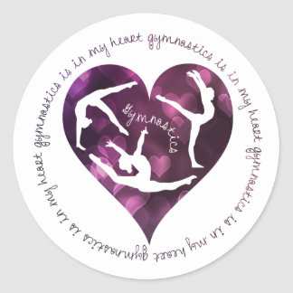 De gymnastiek is in Mijn Hart om Stickers