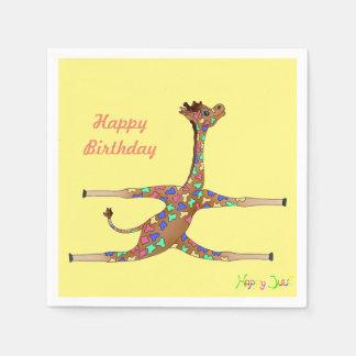De Gymnastiek van de regenboog door Happy Juul Papieren Servet
