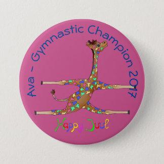 De Gymnastiek van Rainbwo door Happy Juul Company Ronde Button 7,6 Cm