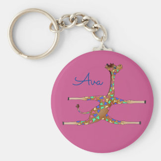 De Gymnastiek van Rainbwo door Happy Juul Company Sleutelhanger