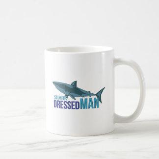 De haai kleedde Man Koffiemok