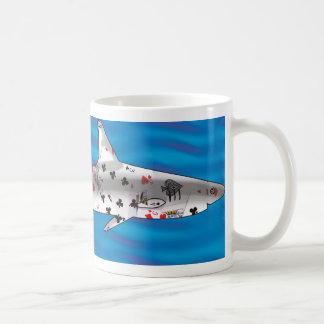 De Haai van de kaart Koffiemok