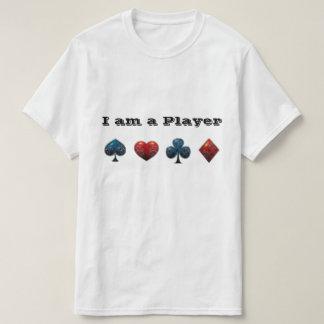 De Haai van de Kaart van de Speler van de pook T Shirt