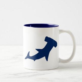 De Haai van Hammerhead Tweekleurige Koffiemok