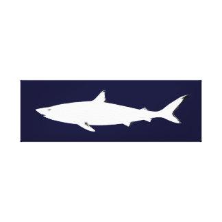 de haai zee-themed inrichting canvas print