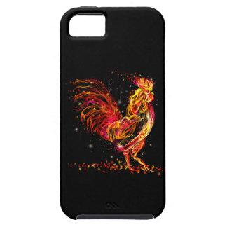 De haan van de brand. Vlammend dierlijk fonkelings Tough iPhone 5 Hoesje