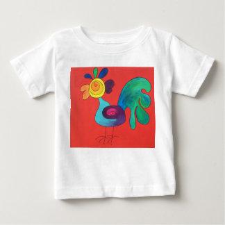 De Haan van de regenboog Baby T Shirts