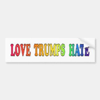 De haat-Regenboog van de Troeven van de liefde Bumpersticker