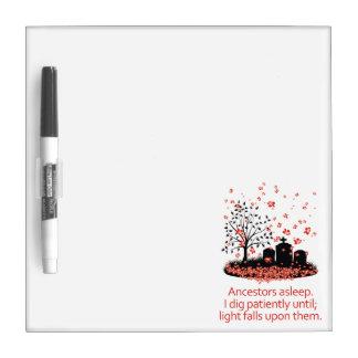 De Haiku's 2012 van de genealogie Dry Erase Whiteboard
