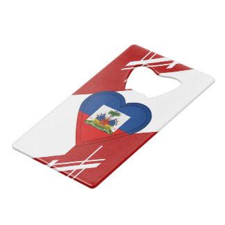 De Haïtiaanse Vlag van Haïti Creditkaart Flessenopener