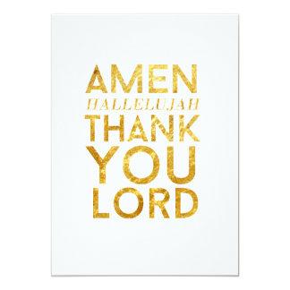 De Halleluja van Amen dankt u Lord Desk Card Kaart