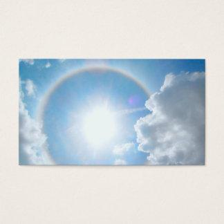 De Halo van de Regenboog van de zon Visitekaartjes