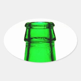 De Hals van de Fles van het bier Ovale Sticker