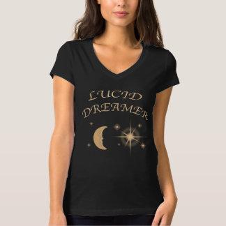 De hals van vrouwen v helder het dromen overhemd t shirt
