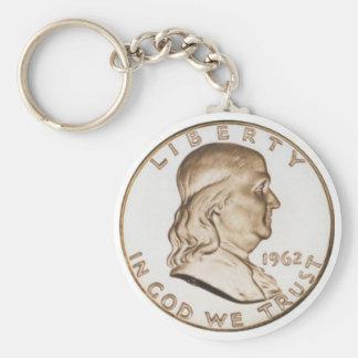 De Halve Dollar van Franklin Sleutelhanger