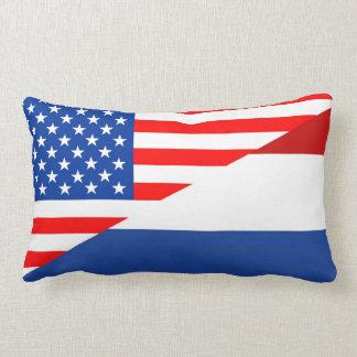 de halve vlag de V.S. van Verenigde Staten Amerika Lumbar Kussen