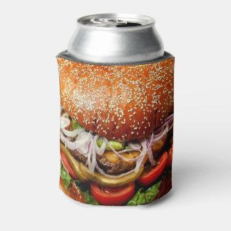 de hamburgercheeseburger van het grill blikjeskoeler