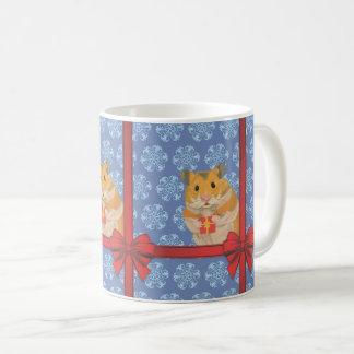 De Hamster van Kerstmis van sneeuwvlokken Koffiemok