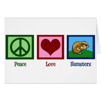 De Hamsters van de Liefde van de vrede Briefkaarten 0