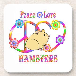 De Hamsters van de Liefde van de vrede Onderzetter