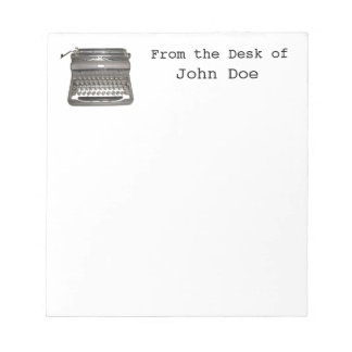 De hand Blocnote van de Schrijfmachine