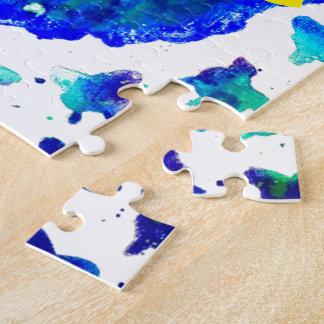 De hand Geschilderde Doos van het Raadsel w/Gift Puzzels