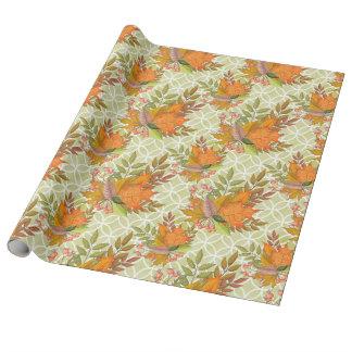 De hand Getrokken Bladeren van de Herfst Inpakpapier