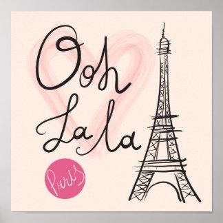 De hand Getrokken Toren van Eiffel Poster
