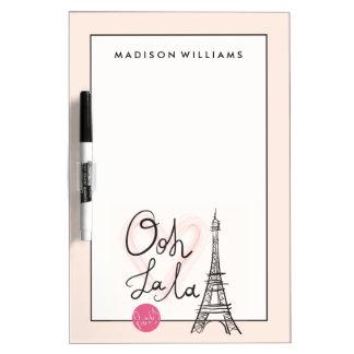De hand Getrokken Toren van Eiffel Whiteboard