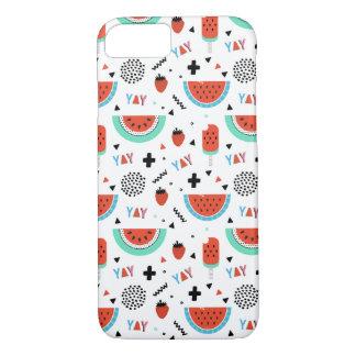 De hand Getrokken Zomer van de Watermeloen iPhone 7 Hoesje