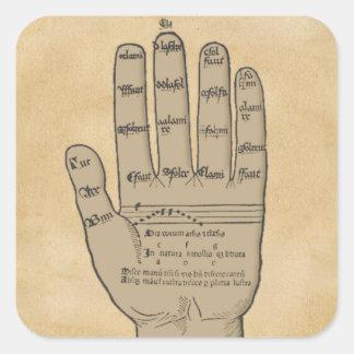 De Hand van Guidonian, de Middeleeuwse Theorie van Vierkante Sticker