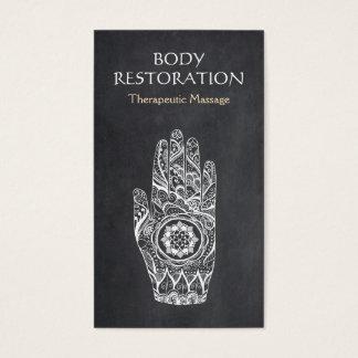 De Hand van het Tattoo van Lotus van de Henna van Visitekaartjes