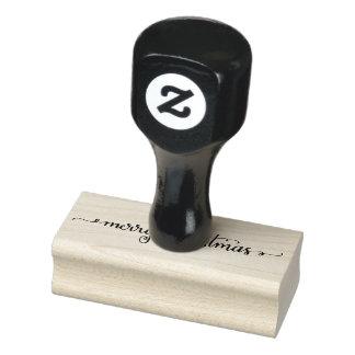 De hand Van letters voorzien Vrolijke RubberZegel Rubberstempel