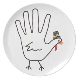de hand van Turkije Melamine+bord
