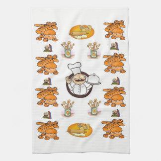 De handdoek van de de keukenhand van het brood