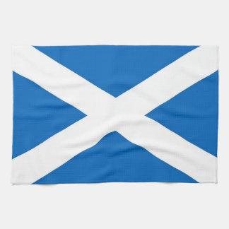 De handdoek van de keuken met Vlag van Schotland