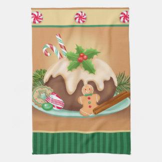 De Handdoek van de Keuken van de Cake van Kerstmis