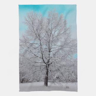 De handdoek van de Keuken van de Winter Eiken