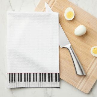 de handdoek van het pianotoetsenbord