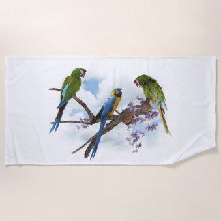 De Handdoek van het Strand van de Papegaaien van