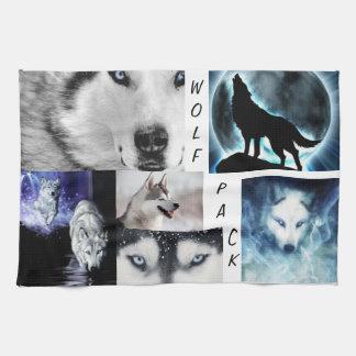 de handdoek van het wolfspak